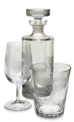 A GERMAN PARTIAL DRINKWARE SET