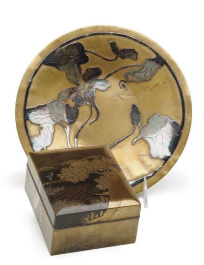 AN AMERICAN SILVER-INLAID ART