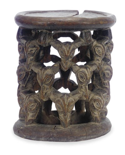A CAMEROON STOOL,