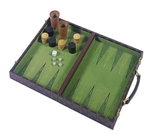 A LOUIS VUITTON BACKGAMMON SET