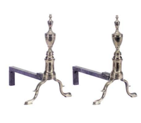 A PAIR OF BELL METAL URN-FORM