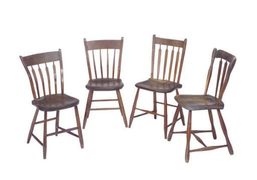FOUR AMERICAN CHAIRS,