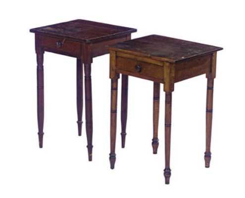 AN AMERICAN MAPLE SIDE TABLE,