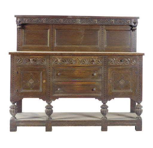 A JACOBEAN REVIVAL WALNUT SIDE