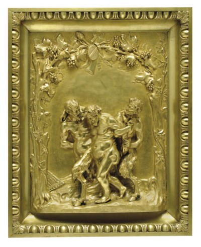 A French gilt-bronze bas-relie