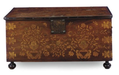 A DUTCH-COLONIAL FRUITWOOD AND