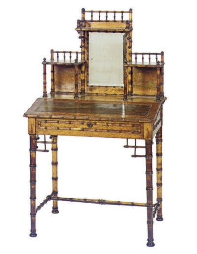 A VICTORIAN FAUX BAMBOO AND MA