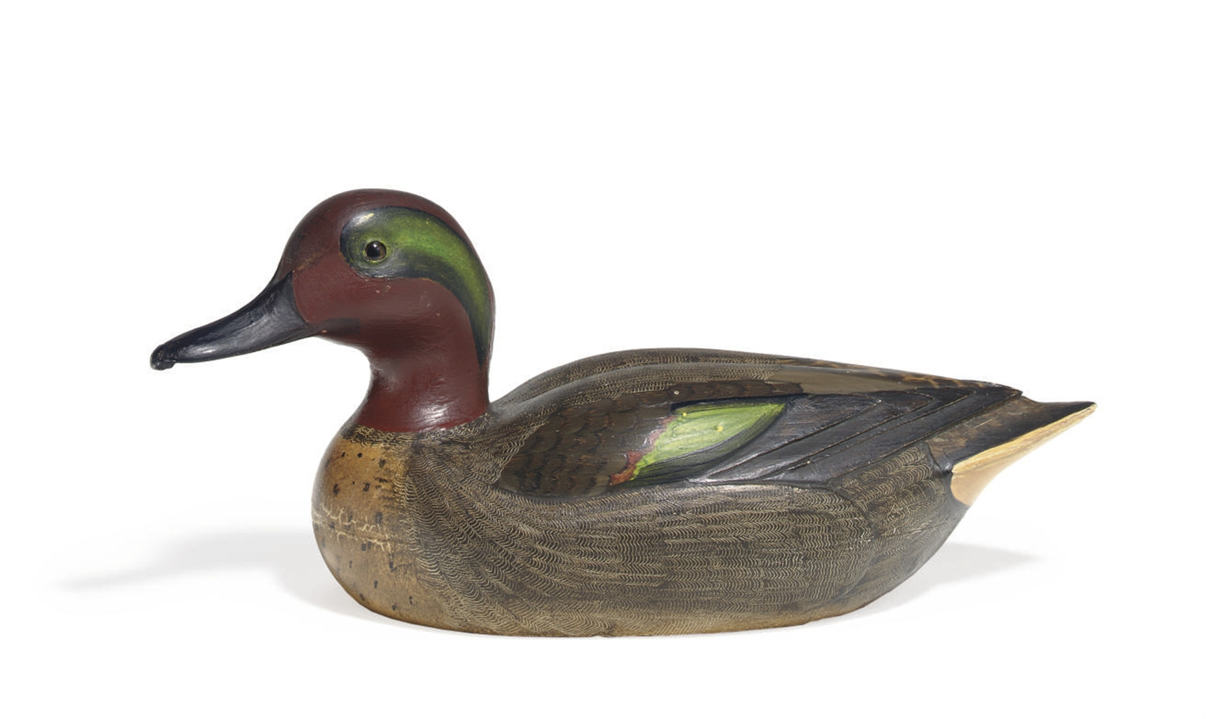 A DECORATIVE GREEN WING TEAL D