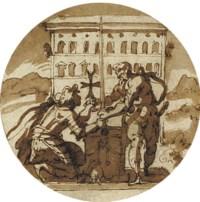A Knight Hospitaller swearing an oath