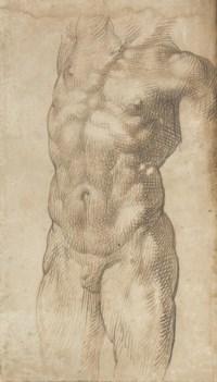 A nude male torso