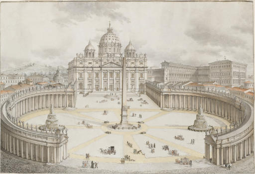Rome: View of the Piazza San Pietro with the Vatican