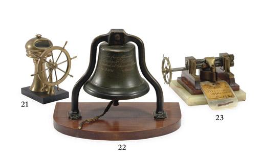 A miniature binnacle and ship'