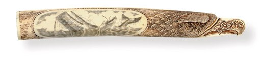 A 20th century scrimshaw and c