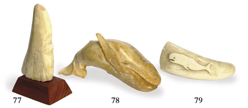 A cut and carved whale's tooth
