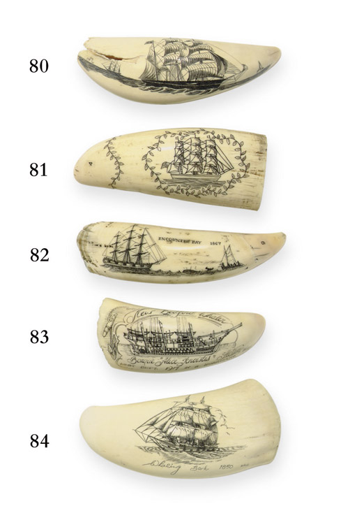 A 20th century scrimshaw whale