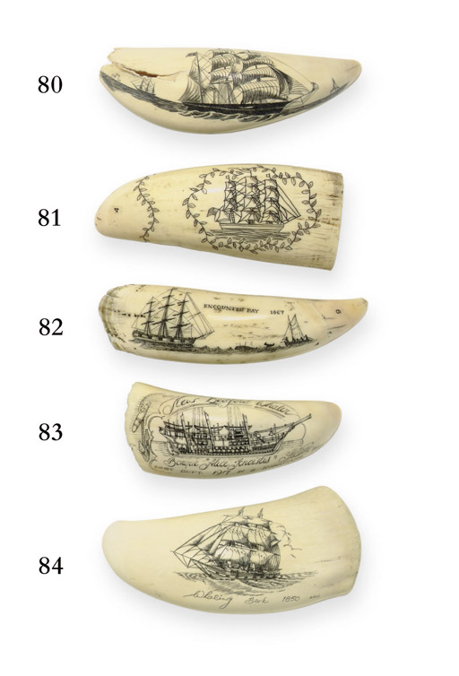 A 20th century scrimshaw whale