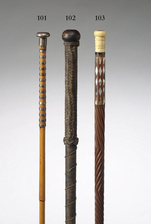 A 19th century Knok Kerry Cane