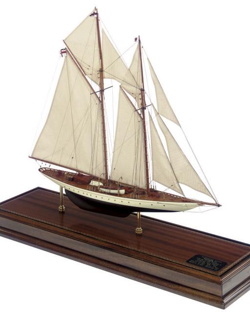 model of the racing schooner M
