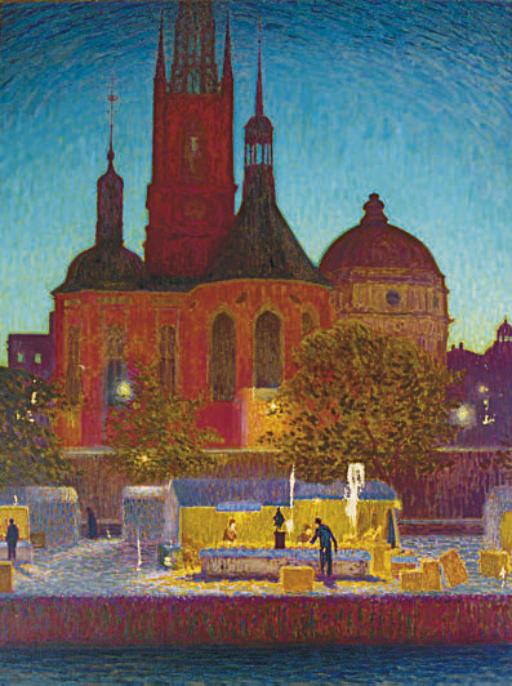 View of the Riddarholm Church, Stockholm