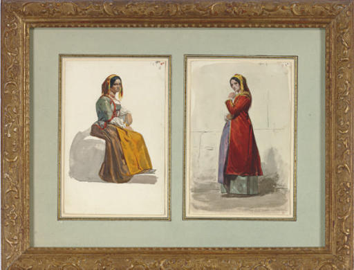 Studies of women in traditional Italian costume