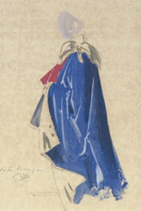 Study of a man in a cape