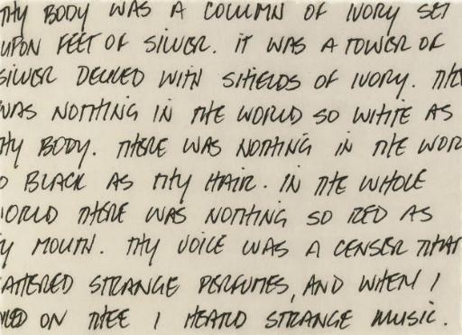 Untitled (Oscar Wilde) (Elger 273)