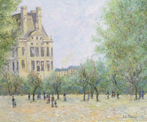 Le jardin des Tuilleries à Paris