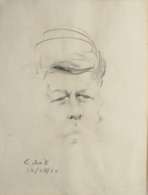 Sketch of John F. Kennedy