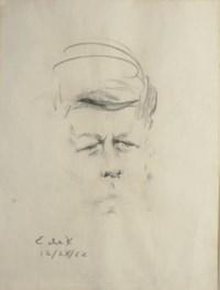 Sketch of John F. Kennedy