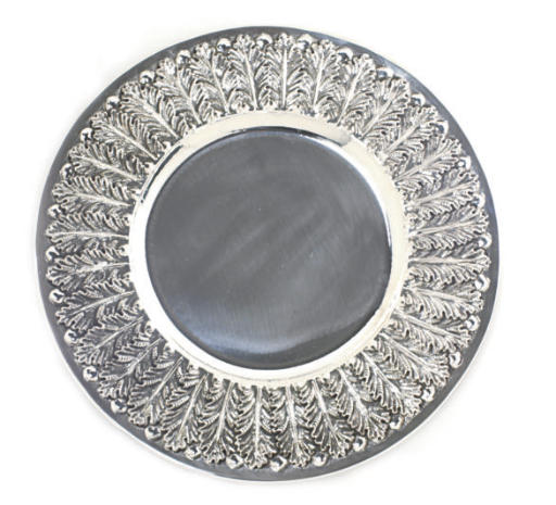 A SET OF SILVER CHARGERS, BY N