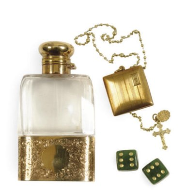 AN AMERICAN GOLD-MOUNTED SCENT