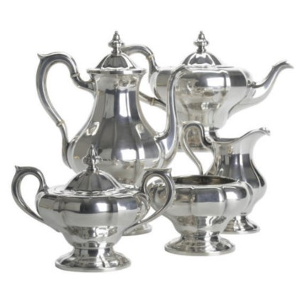 AN AMERICAN SILVER TEA AND COF
