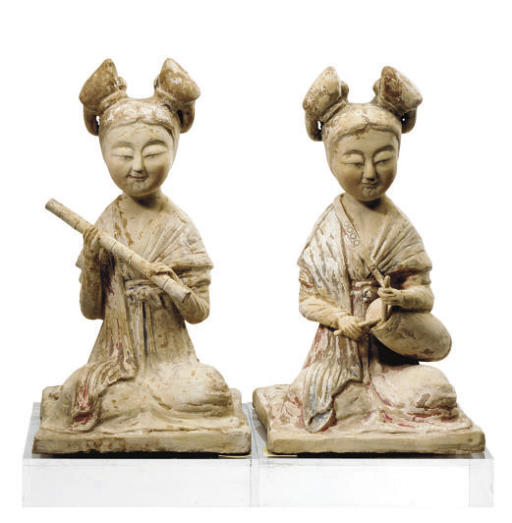 A PAIR OF TANG STYLE POTTERY F
