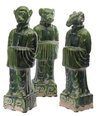 A GROUP OF TWELVE MING STYLE G
