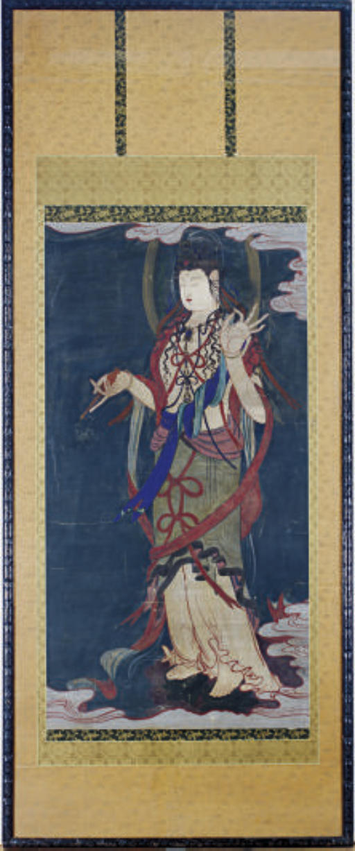 A CHINESE SCROLL PAINTING OF G