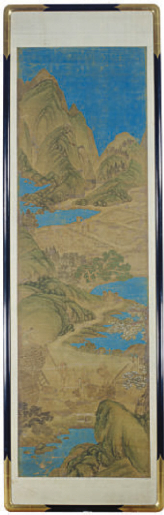 A PAIR OF CHINESE STYLE SCROLL