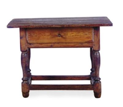 A PINE TAVERN TABLE,
