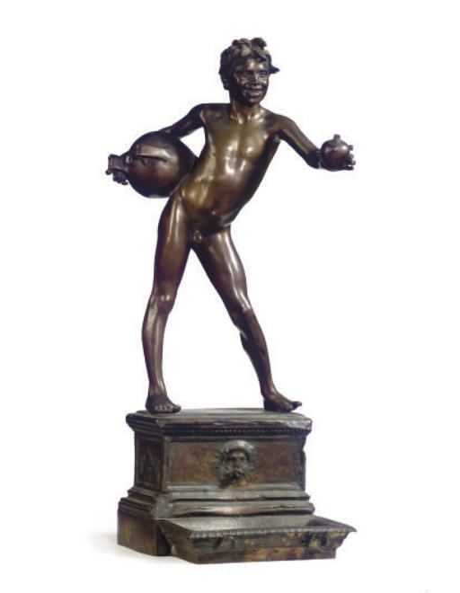 AN ITALIAN BRONZE FIGURE, 'L'ACQUAIOLO',