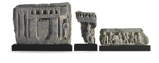 Three schist relief fragments