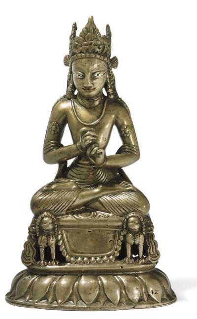 A rare bronze figure of Vairoc