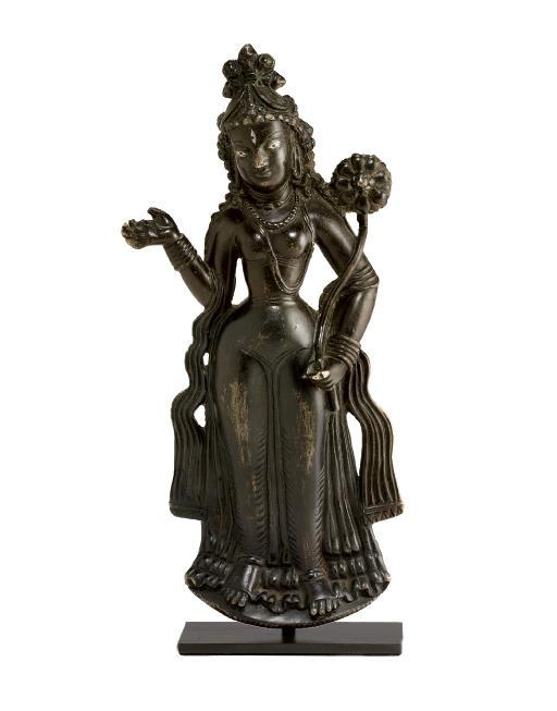 A rare bronze plaque of Tara