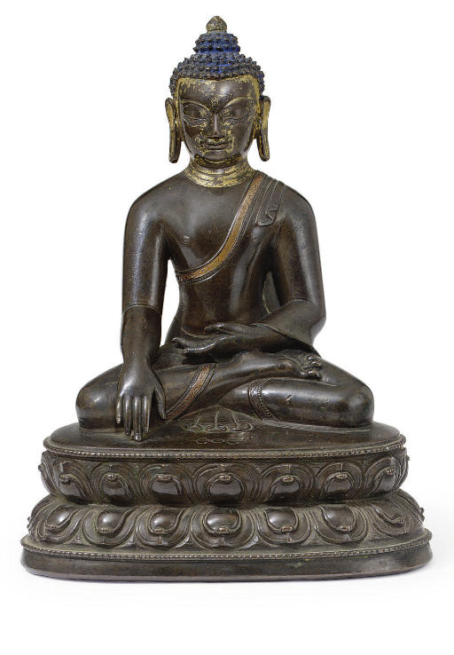 A bronze figure of Akshobya