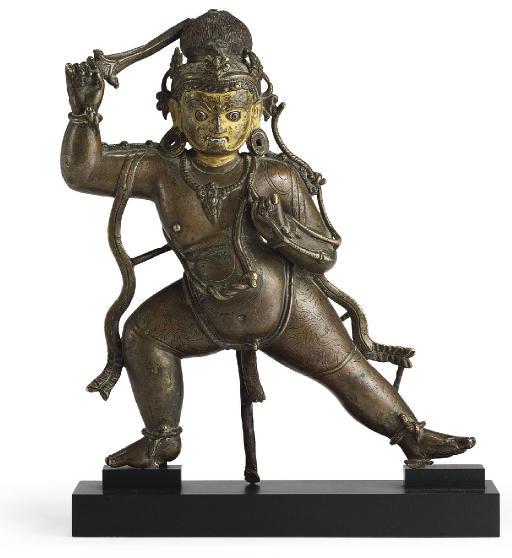 A bronze figure of Achala