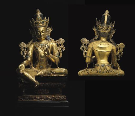 An Imperial gilt bronze figure