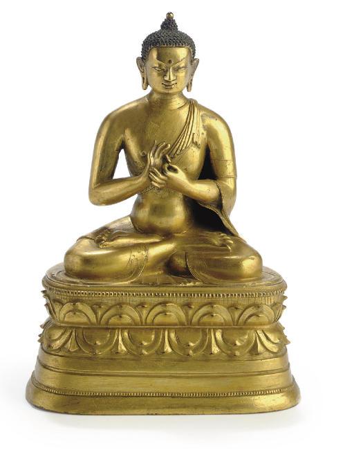 A gilt bronze figure of the Te