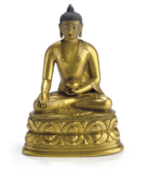 A gilt bronze figure of the Me
