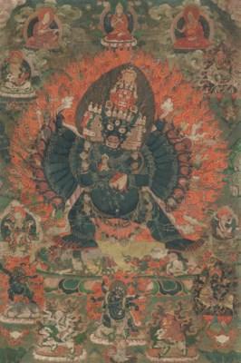 A Thangka of Vajrabhairava