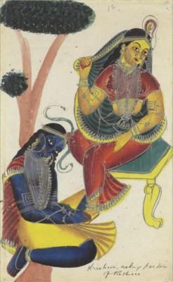 A Kalighat of Laxmi and Sarasw
