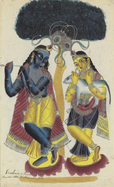 Krishna and Balaram Under a Tr