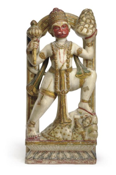 A Polychromed Marble Figure of